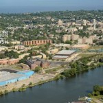 aerial shot of Oshkosh campus