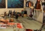 artist at work in his studio