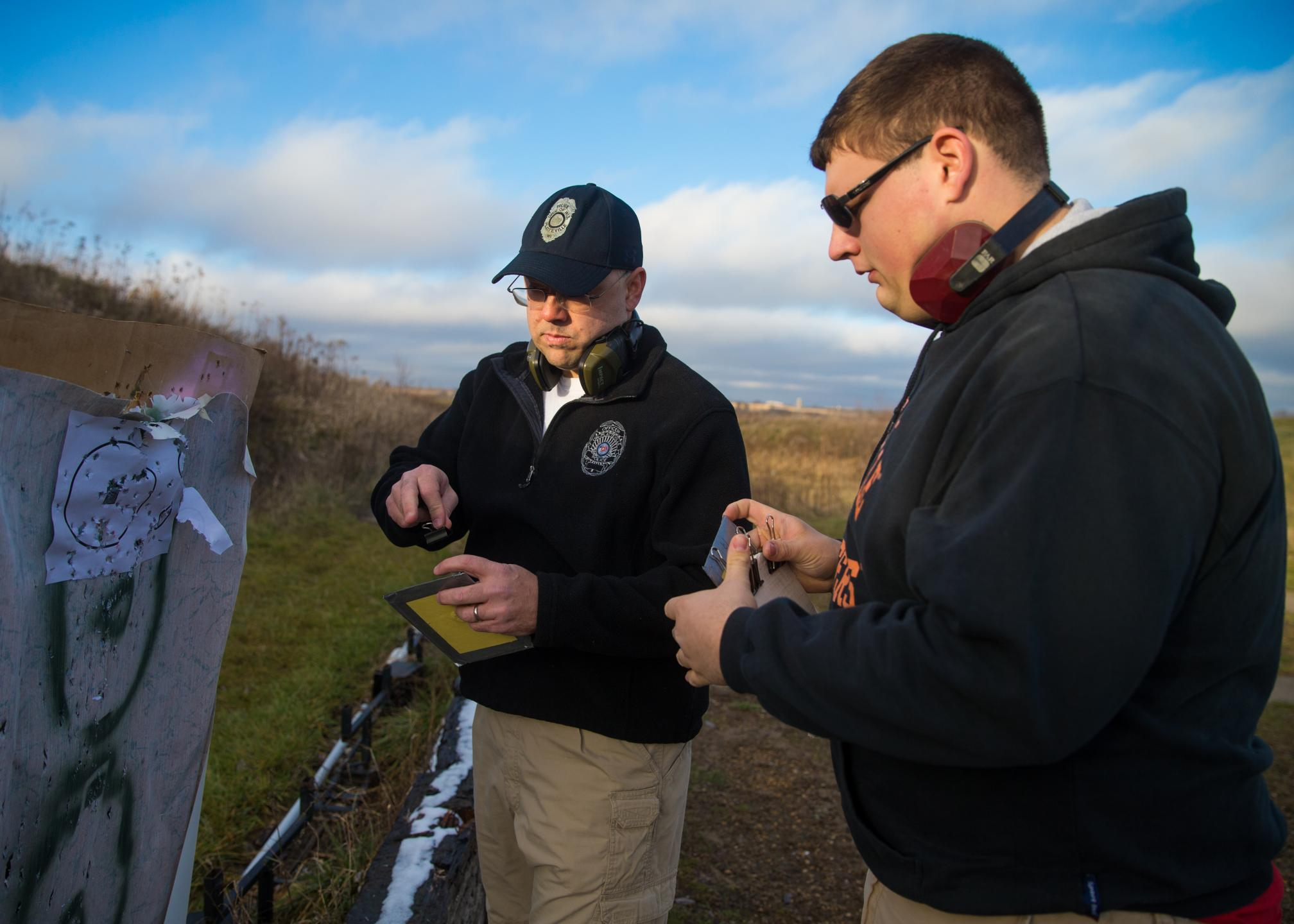 uw platteville student designs bulletproof panel for backpacks university police help test the panels at a local shooting range