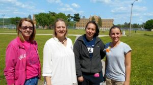 Pictured from left to right are Teresa Royce, Robin Cline, Courtney Remus and Megan Goodney. Missing from photo is Karlee Cleary.