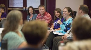 Education professionals from the Augusta and Cornell school districts participate in a workshop led by UW-Eau Claire education studies faculty. The workshop is part of a three-year program supported by a UW System Improving Teacher Quality grant.