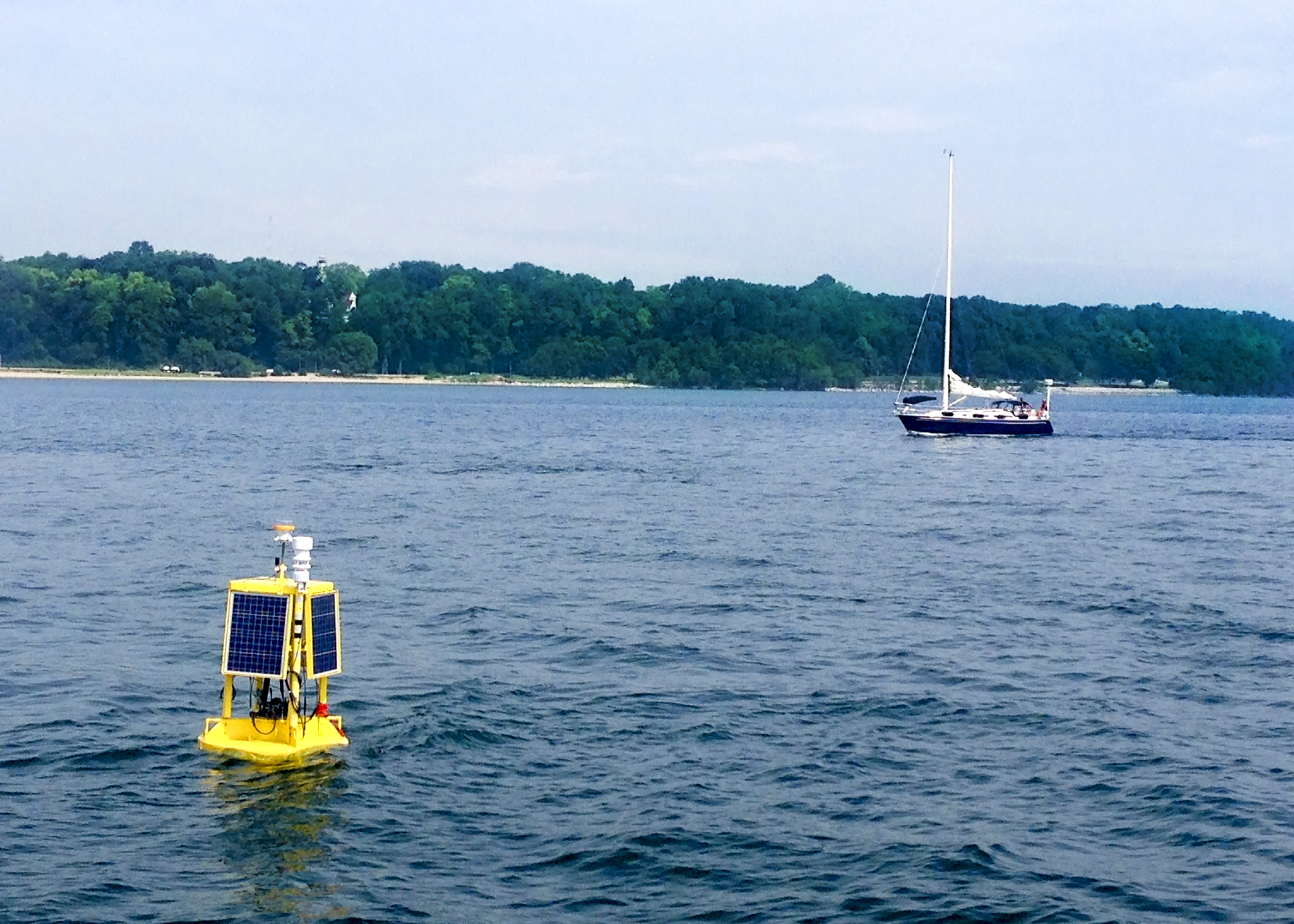 The buoy will provide Milwaukee health officials with up-to-the-minute data on conditions likely to produce high levels of illness-causing bacteria at Bradford Beach. (UWM Photo)