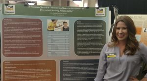 Undergraduate psychology student Haley Branback presented her research on the effects of parental criticism at UW-Milwaukee's Undergraduate Research Symposium. (Photo courtesy of Haley Branback)