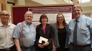 UW-River Falls Biology Professor Tim Lyden (far right) and his Duluth industrial partner co-presented cutting-edge cancer research at the first White House–sponsored national Cancer Moonshot Summit regional event at the University of Minnesota-Duluth Medical School on June 29.