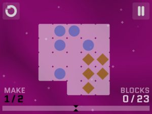 A screenshot from Diffission, a new game from Filament Games in Madison, asks players to create the fraction 1/2 from the on-screen elements. Image: Filament Games