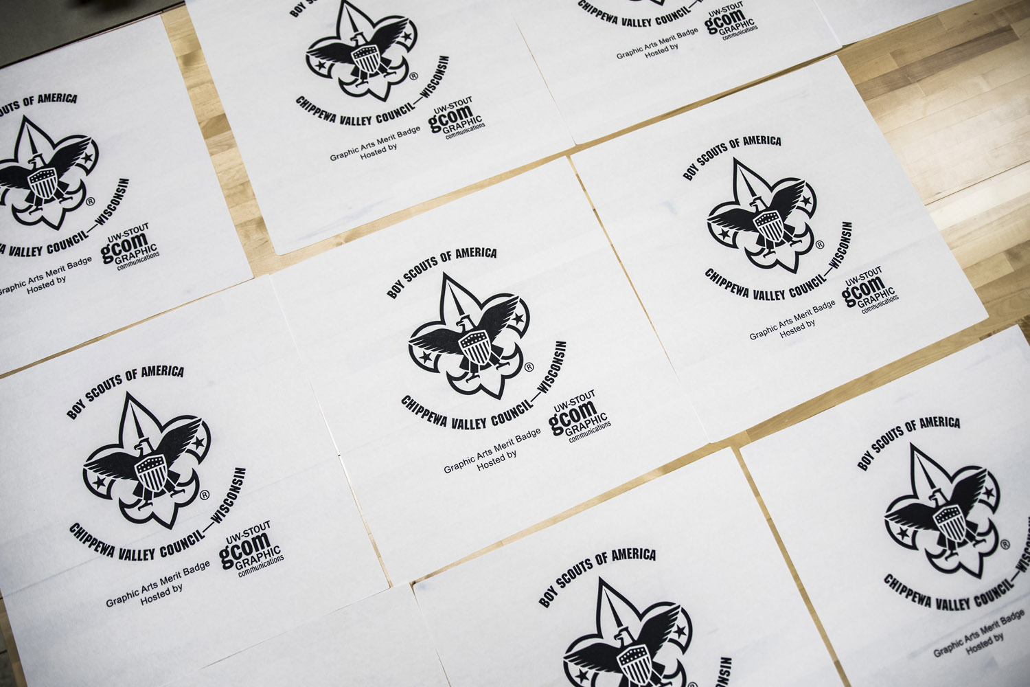 Print ready: UW-Stout students, staff help Boy Scouts earn graphic