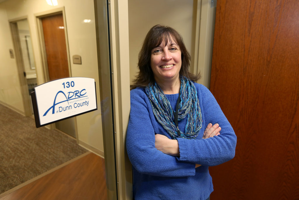 Amy White, intake and assessment social worker for the Dunn County Aging and Disability Resource Center, is pursuing UW-Stout's new social work professional certificate. The certificate qualifies graduates for social work certification in Wisconsin.