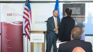 Governor Walker and UW Oshkosh Chancellor Leavitt