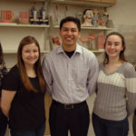 Five UW-Parkside pre-med students smiling and posing for a picture