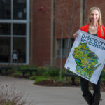 "Samantha Hytry, a UW-Eau Claire freshman graphic communications major and marketing minor, created a new map for ""Discover Wisconsin"" in honor of the show's 30th season."
