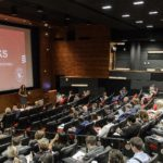 Photo: A series of talks, titled RED Talks, are present by UW faculty and staff during the Office of Corporate Relations (OCR) Day On Campus event held in Varsity Hall in Union South at the University of Wisconsin-Madison on Aug. 23, 2017. (Photo by Bryce Richter / UW-Madison)
