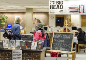 Photo of UW-Parksdie library's Big Read banner