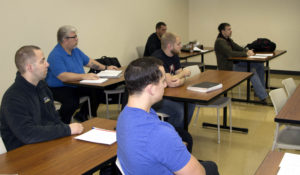 Photo of students taking a new UW-Superior class to help student veterans adjust to civilian and academic life.