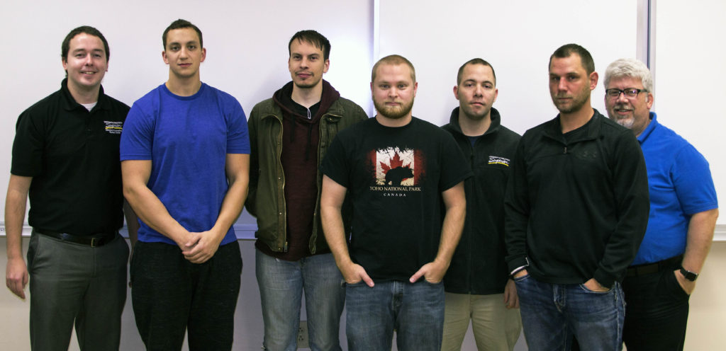 Photo of students taking a new UW-Superior class designed to ease veterans' adjustments to civilian and academic life