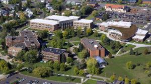 Photo of aerial view of UW-Superior campus