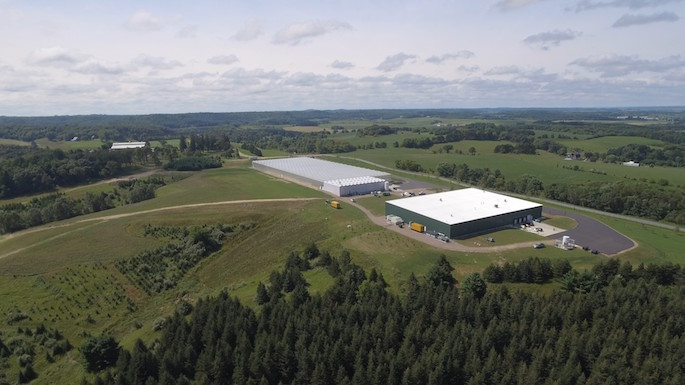 Photo of Superior Fresh, which about a dozen UWL faculty toured last summer and some have already started working on projects for the cutting-edge company. The startup in Northfield, Wisconsin, sits on a 720-acre native restoration property. Photo courtesy of Superior Fresh.