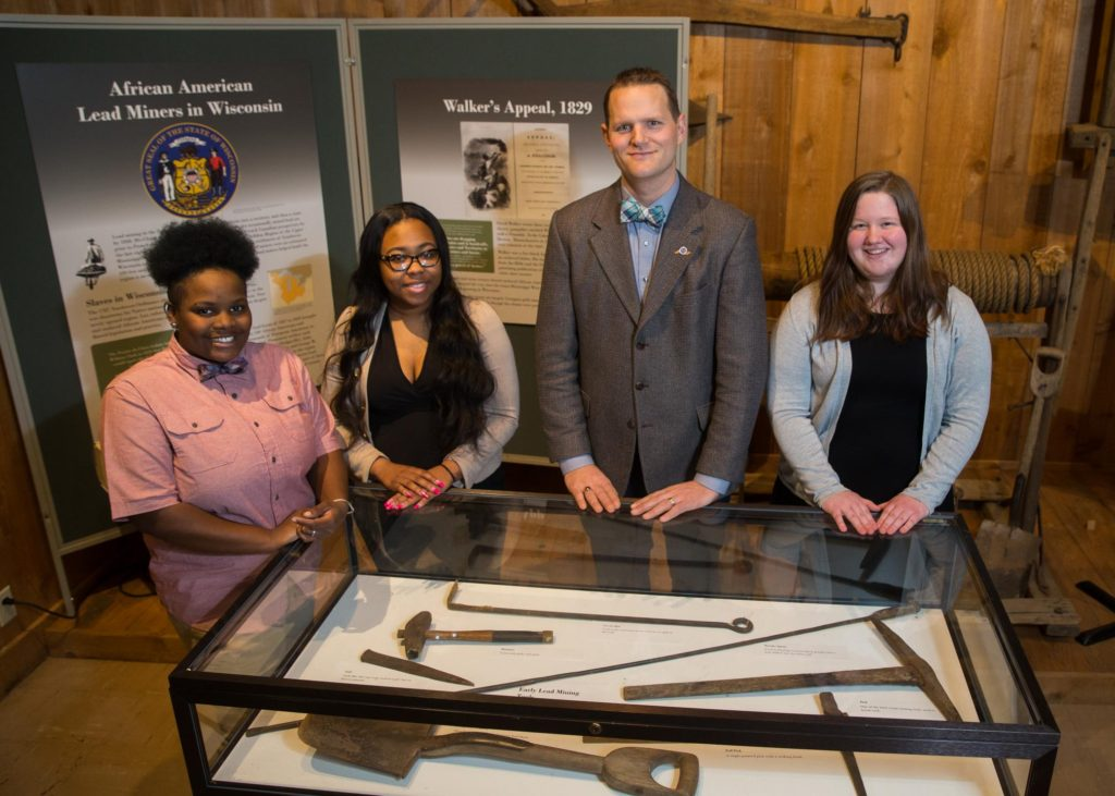 Photo of Simone Rand, Deja Roberson, Dr. Eugene Tesdahl, and Winnie Redfearn