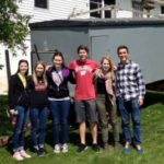 Photo of students in the Wisconsin Express program in 2016. The program visits communities across Wisconsin to learn about public health dilemmas. COURTESY OF AHEC
