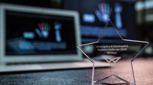 Photo of UltraHaptics Students Challenge first-place award, won by a team of three UW-Whitewater undergraduates