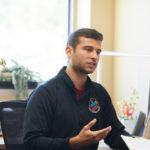 Photo of UW-La Crosse advisor with student