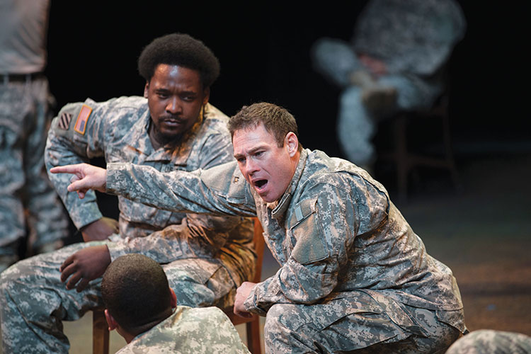 Photo of UWM theater student and Navy veteran Ronnie Graham (front, right), who found solace in Feast of Crispian in the wake of his wife's death.