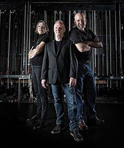 Photo of Feast of Crispian creators Nancy Smith-Watson, Jim Tasse and Bill Watson. (UWM Photo/Troye Fox)