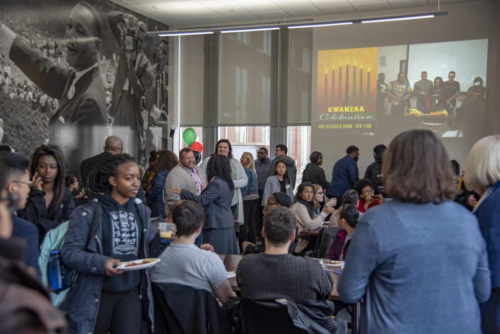 Photo of the opening of the Black Cultural Center at UW-Eau Claire