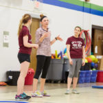 Photo of UWL physical therapy students teaching an exercise class at Summit Elementary in La Crosse. Community service and research activities that involve more than 500 people each year are just one of the reasons the Commission on Accreditation in Physical Therapy Education (CAPTE) granted the Clinical Doctoral Program in Physical Therapy the maximum 10 years of accreditation.