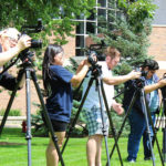 Photo of UW-Stout students in a summer cinema course.