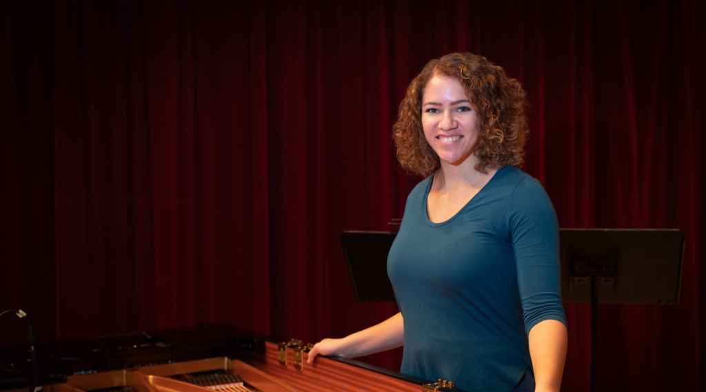 Photo of Faith Hatch, who has been traveling to UW-Stevens Point at Wausau to be a part of the Jazz Central Voices group.