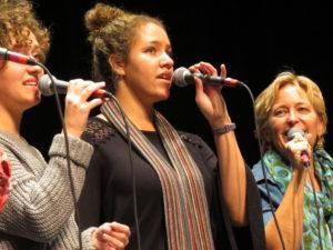 Photo of Faith Hatch singing