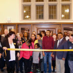 """Photo of the naming and dedication ceremony for UW-Superior's William """"Pope"""" Wright Jr. Student Center held Nov. 28 in the recently refurbished space in Old Main, formerly known as the Multicultural Center."""