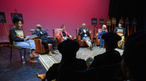 Photo of a recent UW-Madison panel discussion at the Memorial Union, in which several of the former students shared their experiences.