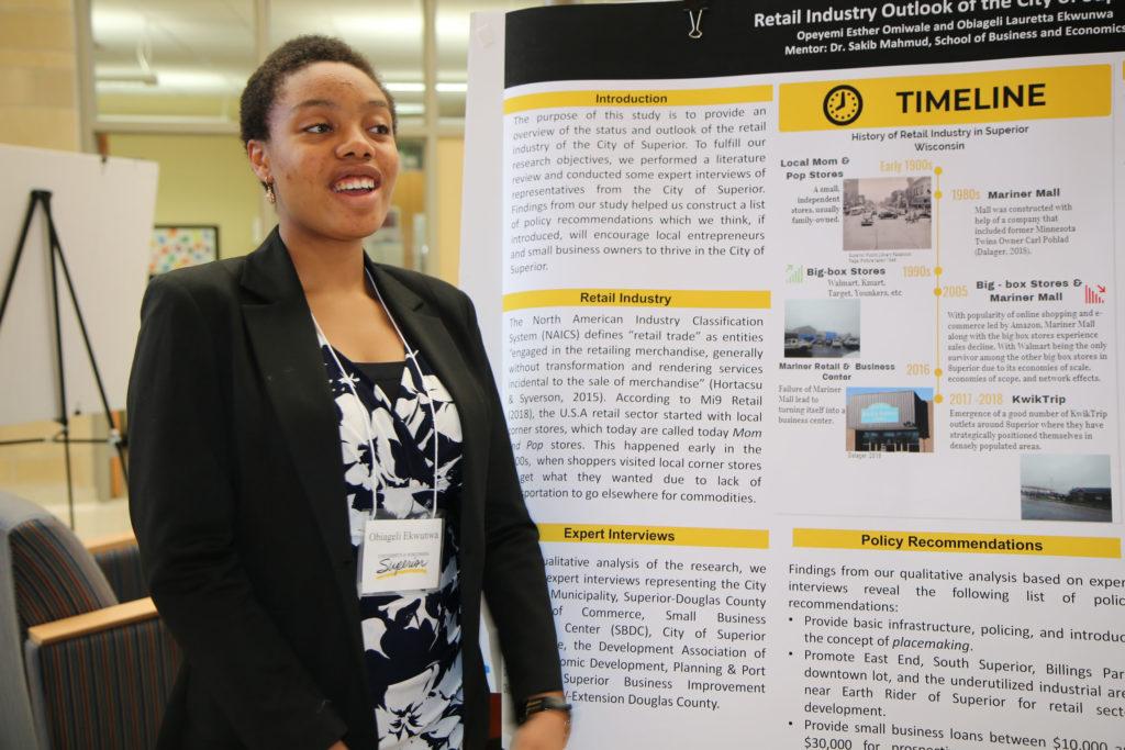 Photo of UW-Superior student Obiageli Ekwunwa