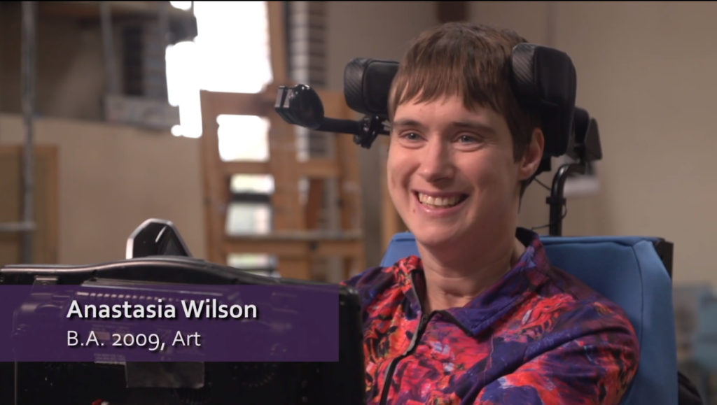 Photo of UW-Whitewater alumna, Anastasia Wilson, who created HeadStrong Art.