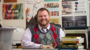 Photo of Christopher Jorgenson, director of UW-Eau Claire's Gender and Sexuality Resource Center