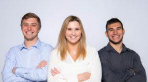 Photo of UW-Oshkosh student team helping to promote an entrepreneurial venture