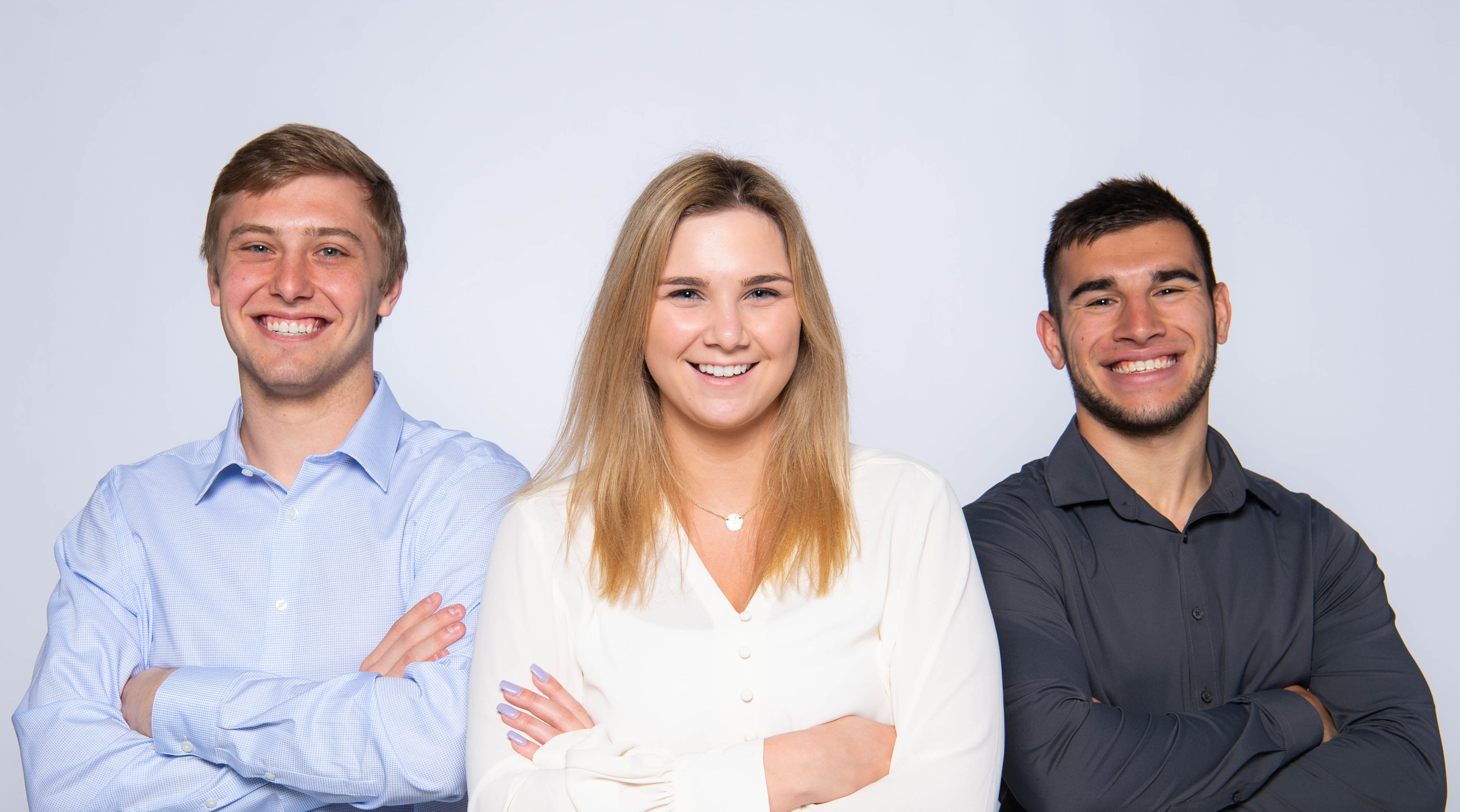 Photo of UW-Oshkosh student team helping to promote an entrepreneurial venture