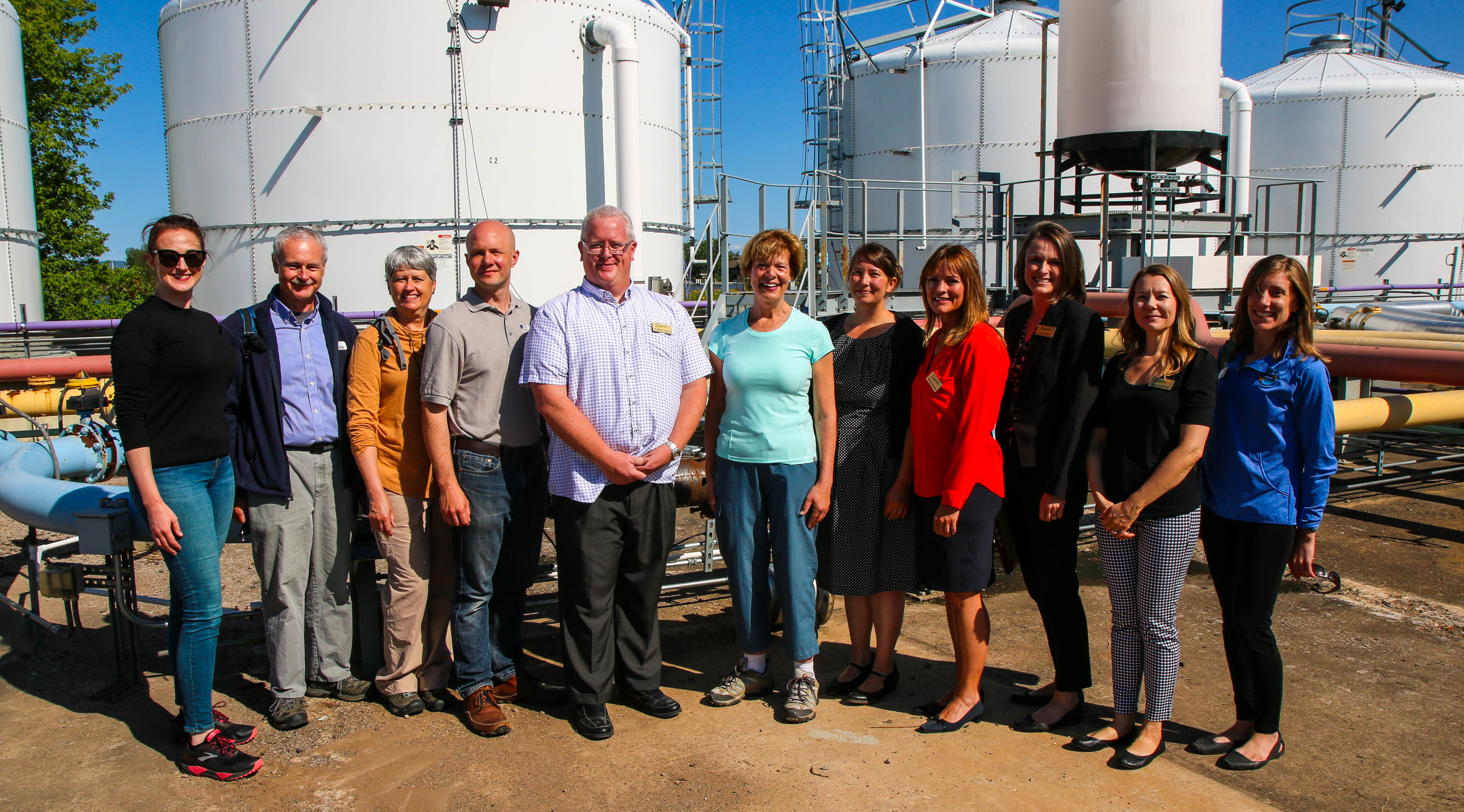 Photo of U.S. Senator Tammy Baldwin visiting the new ballast water treatment facility at UW-Superior.