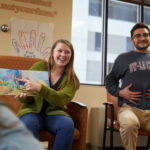 Photo of some of the more than 100 UW-La Crosse students since fall 2013 have played a key role in helping to keep Gundersen's parent programming running strong by providing the child programming that runs alongside the parent programs.