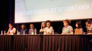 Photo of a panel at a UW-La Crosse Hate/Bias Response Symposium