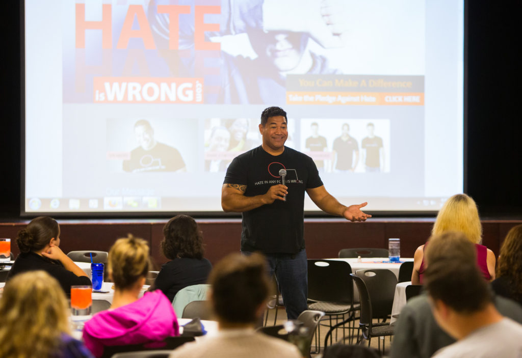 Photo taken at one of UW-Platteville's Midwest Culturally Inclusive Conferences