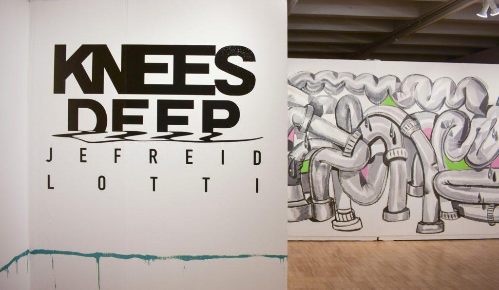 Photo of Knees Deep exhibit at UW-Green Bay