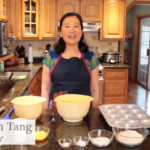 Photo of UW-Stevens Point instructor Deborah Tang, teaching cooking through online videos