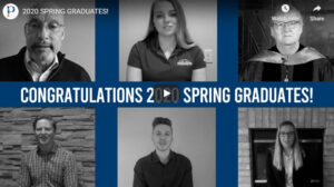Screenshot of UW-Platteville graduation video collage