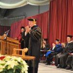 Photo of a UW-River Falls graduation