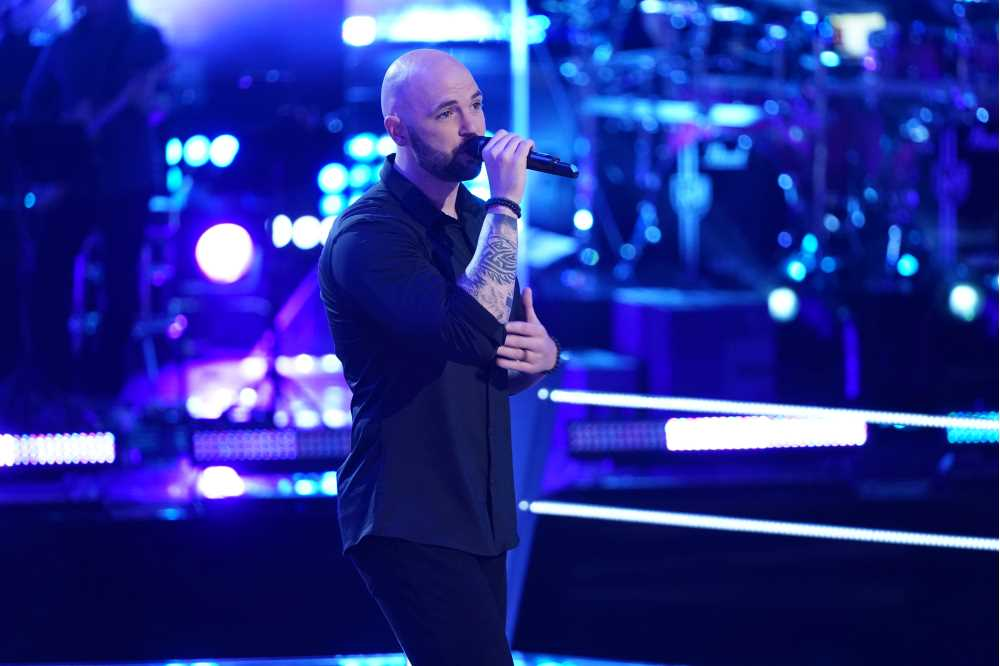 """Photo of Aaron Scott, a 2007 alum of UW-La Crosse, who was featured this fall on NBC's """"The Voice."""" Scott passed his blind audition and stamped his ticket to Hollywood. Competing on the show, he says, was a once-in-a-lifetime experience."""