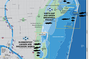 Photo of harbor map segment