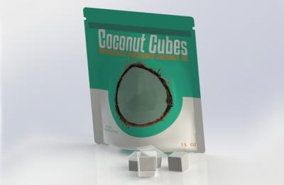 Photo of UW-Stout's award-winning Coconut Cubes packaging
