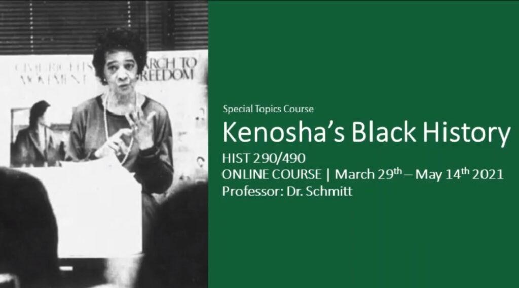 Photo of UW-Parkside Kenosha Black History Course promotional video